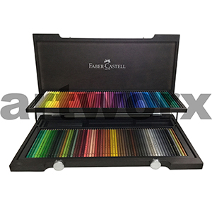 120pc Wooden Box with Carry Handle Polychromos Pencils Faber Castell