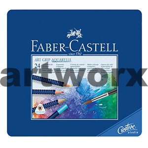 24pc Art Grip Aquarelle Faber-Castell Pencils Tin