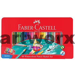 60 Faber-Castell Watercolour Pencils Gift Tin