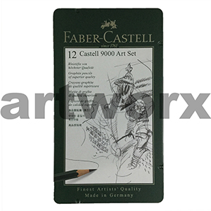 12pc 9000 Art Set Graphite Pencils Faber Castell