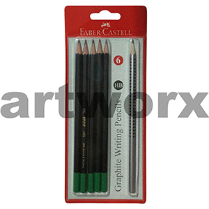 6pc HB Writing Pencils Faber-Castell