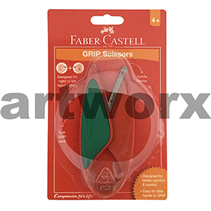 Faber Castell Grip Scissors red