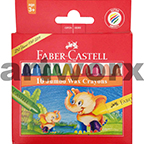 10 Faber Castell Jumbo Wax Crayons