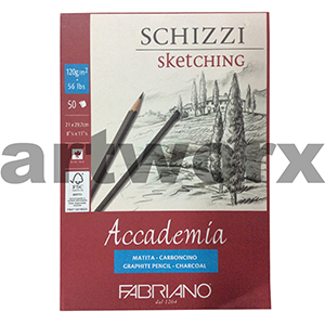 120gsm A4 50 Sheet Schizzi Sketching Fabriano Accademia Pad