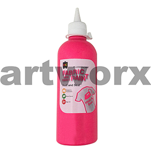 Fluorescent Pink Fabric Paint 500ml Educational Colours