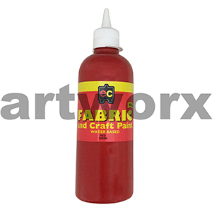 Red Fabric Paint 500ml Educational Colours