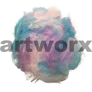 10gm Pastels Mix Value Craft Feather Pack