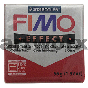 No.202 Glitter Red Fimo Effect Clay