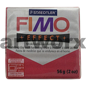 No.28 Metallic Ruby Red Fimo Effect Clay