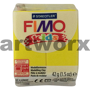 Yellow No.1 Kids Fimo 42gm Block