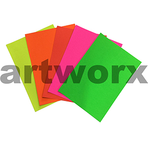 Assorted 25pc A4 250gsm Fluorescent Card