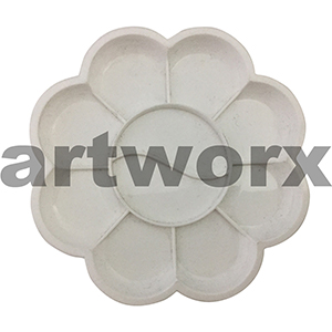 Flower Shaped Plastic Palette 19cm