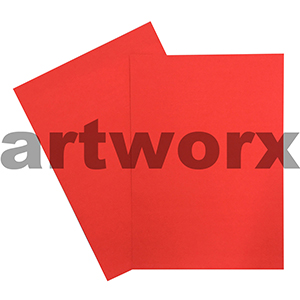 Red 510x640mm 250gsm Fluorescent Card