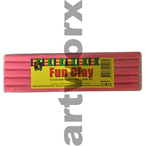 Pink Modelling Clay 500gm EC