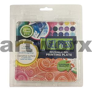 6 x 6 Inch Gel Press Jelly Printing Plate