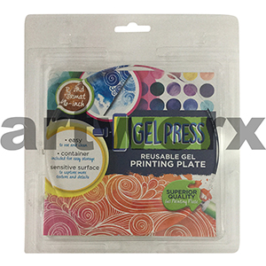 Circle Round 6 Inch Diameter Gel Press Jelly Printing Plate