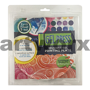 Circle Round 8 Inch Diameter Gel Press Jelly Printing Plate