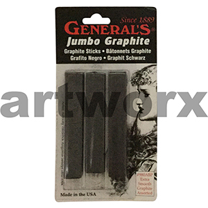 3pc Extra Smooth General's Jumbo Graphite Sticks