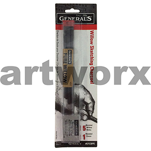 Generals Willow Sketch Charcoal with Kneadable Eraser