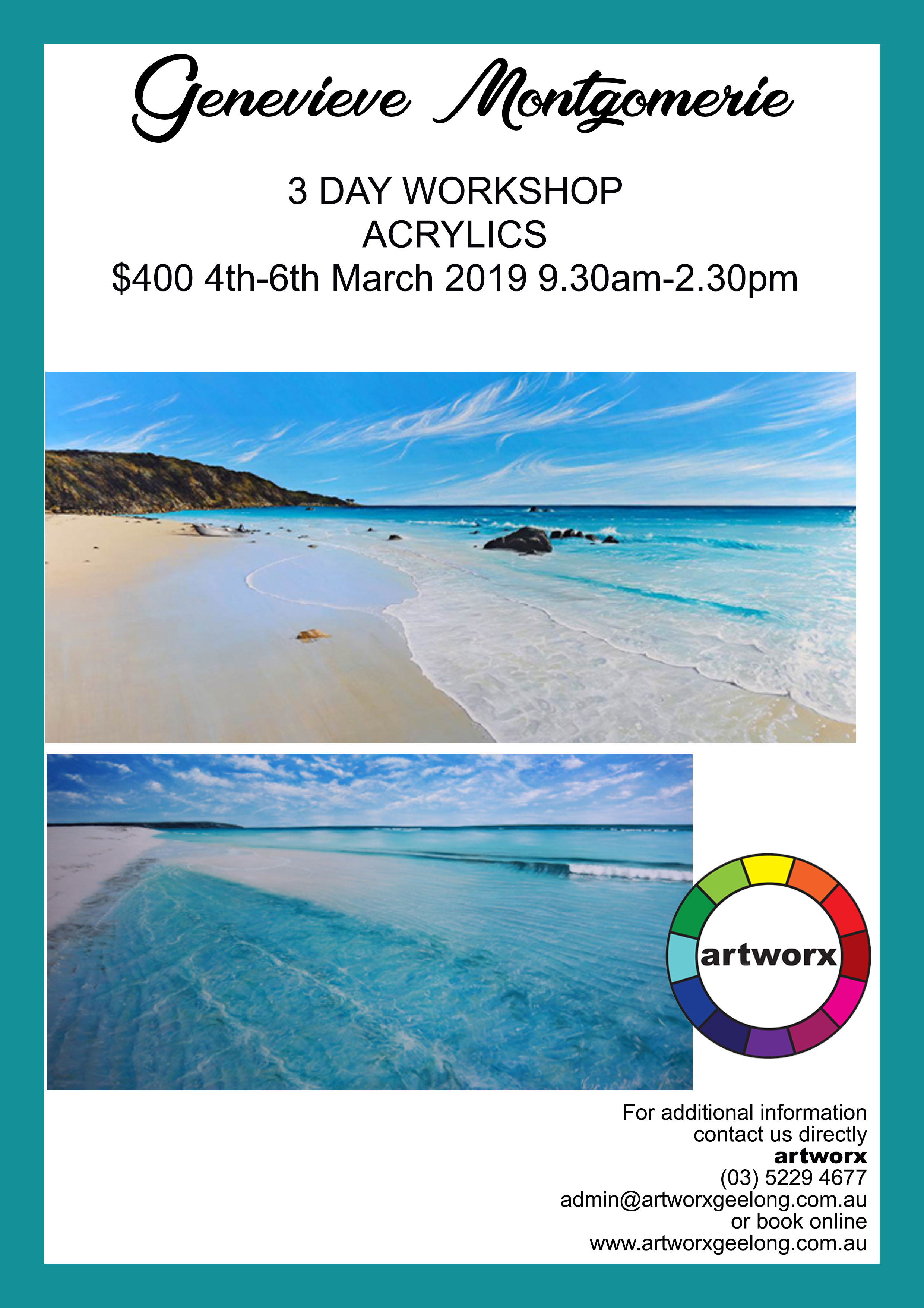Acrylics - Genevieve Montgomerie 4th-6th March 2019