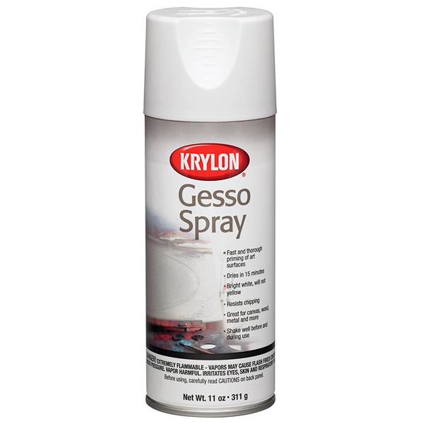 Gesso White 311g Krylon Spray