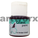 Amber Brown 14 Glass Paint