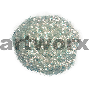 White 20gm Laser Glitter Value Craft