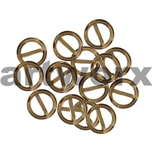 8pk 10mm Metal Gold Round Buckle