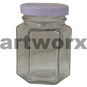 Hexagon Glass Preserving Jar 110ml