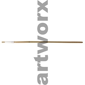Flat no.2 Hog Bristle Natural Long Handle Paint Brush