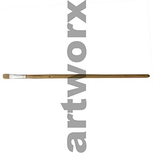 Flat no.6 Hog Bristle Natural Long Handle Paint Brush