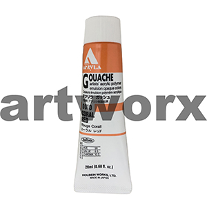Coral Red 20ml Holbein Acryla Gouache Paint