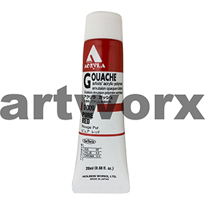 Pure Red 20ml Holbein Acryla Gouache Paint