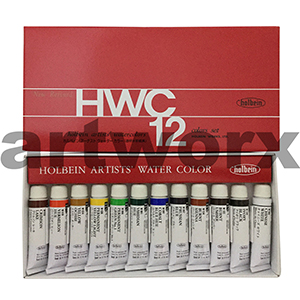 12 x 5ml Holbein Watercolour Set