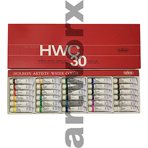 30 x 5ml Holbein Watercolour Set