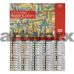 60 x 5ml Holbein Watercolour Set