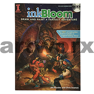 Ink Bloom: Draw & Paint a Fantasy Adventure Book by Jim Palevec