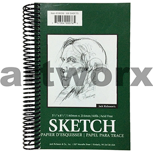 90gsm 5.5x8.5 Inch 100 Sheets Portrait Richeson's Sketching Journal