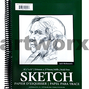 90gsm 8.5x11 Inch 100 Sheets Jack Richeson's Sketching Journal