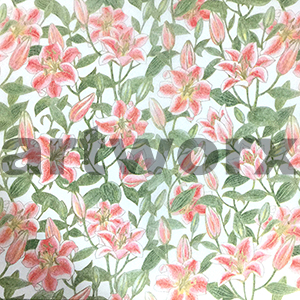 Tigerlily Red Japanese Rice Paper 50x75cm