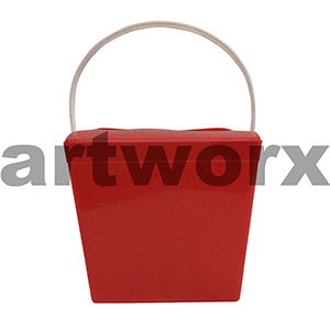 8oz Solid Red Jelly Pail