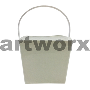 8oz Solid White Jelly Pail