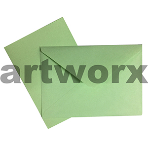 C6 Light Green 12pc Jemark Envelopes & Card