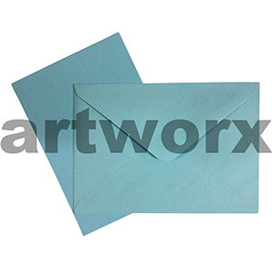 C6 Light blue 12pc Jemark Envelopes & Card