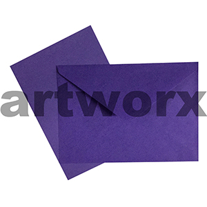 C6 Purple 12pc Jemark Envelopes & Card