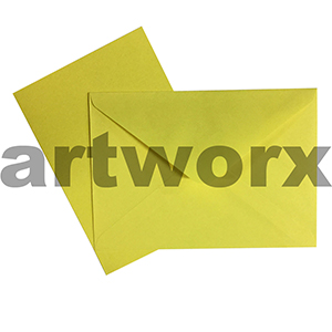 C6 Yellow 12pc Jemark Envelopes & Card