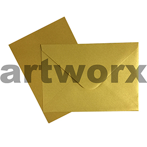 C6 Gold 12pc Jemark Envelopes & Card