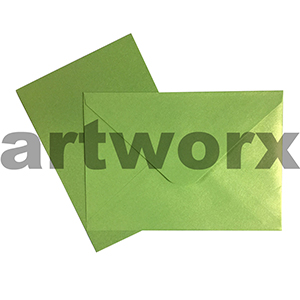 C6 Green 12pc Jemark Envelopes & Card