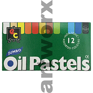 12pc Jumbo Oil Pastels EC