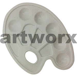 23 x 17cm Kidney Shaped Plastic Palette